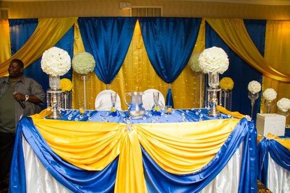 royal blue and yellow | Cameroonian Weddings